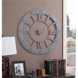 Coaster Wall Clock in Gray