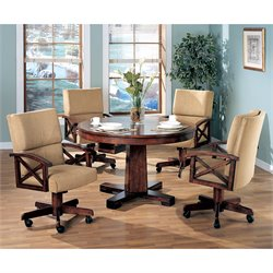 Coaster Marietta 5 Piece 3-in-1 Game Table Set in Dark Oak