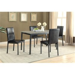 Coaster 5 Piece Dining Set in Black