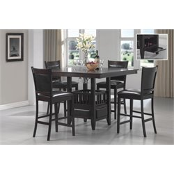 Coaster Jaden 5 Piece Counter Height Dining Set in Cappuccino