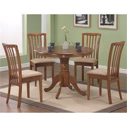 Coaster Brannan 5 Piece Dining Set in Warm Maple