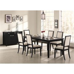 Coaster Lexton 5 Piece Dining Set in Black
