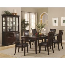 Coaster Ramona 7 Piece Formal Dining Set in Walnut