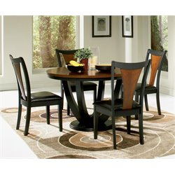 Coaster Boyer 5 Piece Dining Set in Black and Cherry