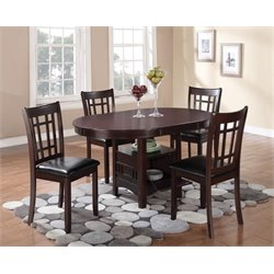 Coaster Lavon 5 Piece Dining Set in Espresso