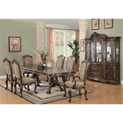 Coaster Andrea Pedestal Dining Set In Brown Cherry