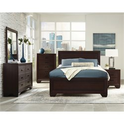 Coaster Fenbrook 5 Piece Panel Bedroom Set in Dark Cocoa