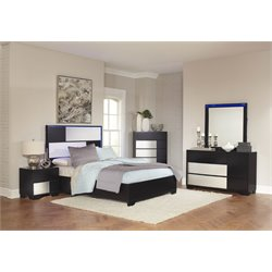 Coaster Havering 4 Piece Panel Bedroom Set in Black