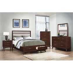 Coaster Carrington 4 Piece Storage Panel Bedroom Set