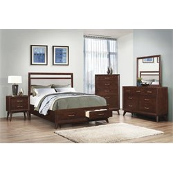 Coaster Carrington 5 Piece Storage Panel Bedroom Set