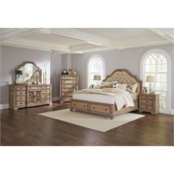 Coaster Ilana 5 Piece Storage Bedroom Set in Cream-A