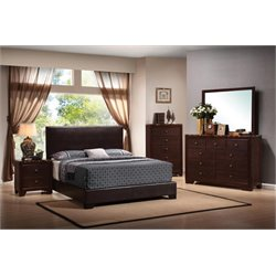 Coaster Conner 5 Piece Upholstered Platform Bedroom Set