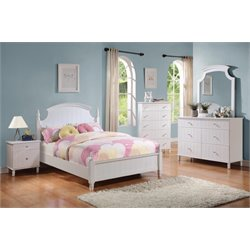 Coaster Bethany 4 Piece Poster Bedroom Set in White