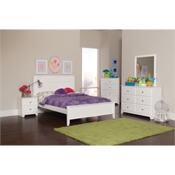 Coaster Ashton 4 Piece Panel Bedroom Set in White-V