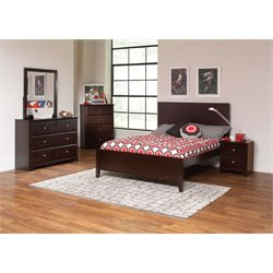 Coaster Ashton 4 Piece Panel Bedroom Set in Cappuccino-S