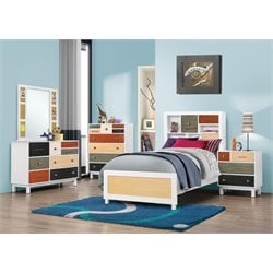 Coaster Lemoore Twin Bookcase Bedroom Set in White