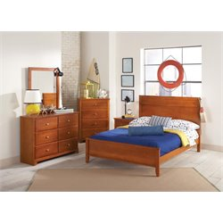 Coaster Ashton 5 Piece Panel Bedroom Set in Honey-DD