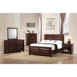 Coaster Greenough Panel Bedroom Set in Maple Oak-NN
