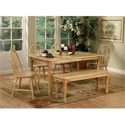 Coaster Damen Dining Table in Natural Wood Finish