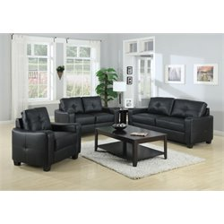 Coaster Jasmine 3 Piece Leather Sofa Set