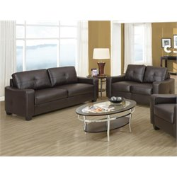 Coaster Jasmine 2 Piece Leather Sofa Set