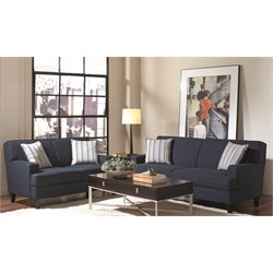 Coaster Finley Linen Sofa Set in Blue