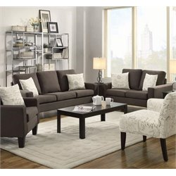 Coaster Bachman Linen Sofa Set in Gray-G