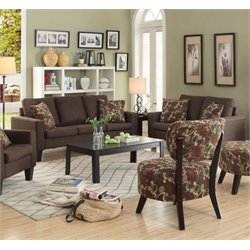 Coaster Bachman Fabric Sofa Set in Chocolate-J