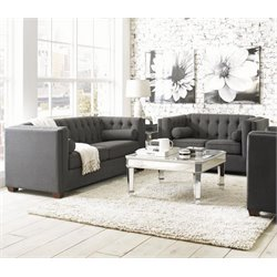 Coaster Cairns 2 Piece Fabric Sofa Set