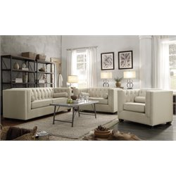 Coaster Cairns 3 Piece Fabric Sofa Set