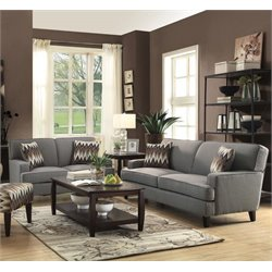 Coaster Finley Upholstered Sofa Set in Cement-H
