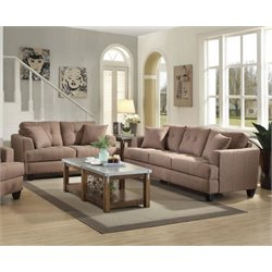 Coaster Samuel 2 Piece Sofa Set in Light Mocha