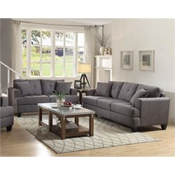 Coaster Samuel 2 Piece Sofa Set in Charcoal