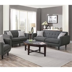 Coaster Stansall 2 Piece Upholstered Modern Sofa Set