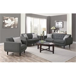 Coaster Stansall 3 Piece Upholstered Modern Sofa Set