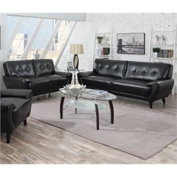 Coaster Leskow Sofa Set in Black