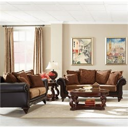 Coaster Garroway Sofa Set in Russet
