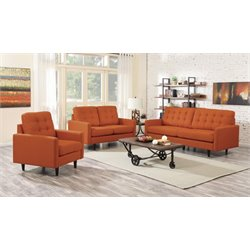 Coaster Kesson 3 Piece Modern Sofa Set
