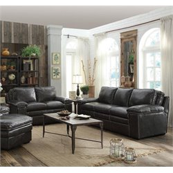 Coaster Regalvale 2 Piece Leather Sofa Set