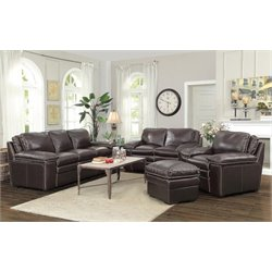 Coaster Regalvale 3 Piece Leather Sofa Set