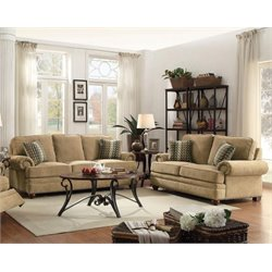 Coaster Colton Traditional Sofa Set in Wheat