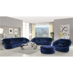 Coaster Romanus 3 Piece Tufted Sofa Set