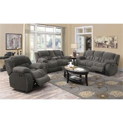 Coaster Weissman 3 Piece Reclining Sofa Set-L