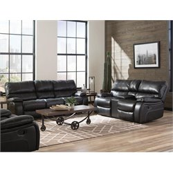 Coaster Willemse Faux Leather Reclining Sofa Set