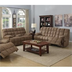 Coaster Pickett Sofa Set in Mocha