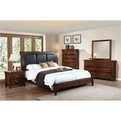 Coaster Noble 4 Piece Upholstered Queen Panel Bedroom Set