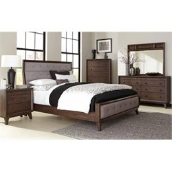 Coaster Bingham 4 Piece Upholstered Queen Panel Bedroom Set
