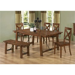 Coaster Lawson Dining Set in Rustic Pecan