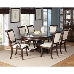 Coaster Harris Extendable Dining Set in Dark Cherry