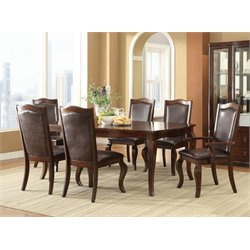 Coaster Louanna Dining Set in Coffee